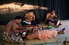 Agentes de Kathakali Fotografía de archivo libre de regalías