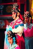 Agentes de la compañía de la ópera de Pekín imagen de archivo libre de regalías