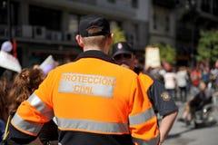 Agentes de la protección civil, España imágenes de archivo libres de regalías