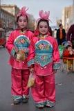 Agentes de los niños de la calle pequeños foto de archivo libre de regalías