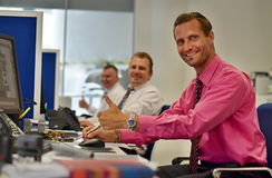 Agentes de seguros felizes Imagem de Stock Royalty Free