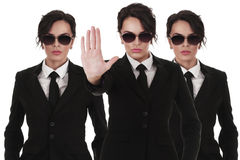 Agentes de serviço secreto Imagens de Stock