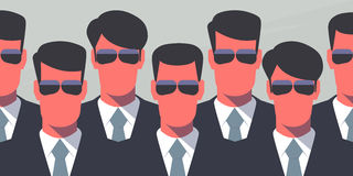 Agentes de servicio secreto libre illustration