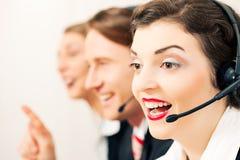 Agentes del centro de atención telefónica Fotografía de archivo libre de regalías
