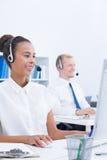 Agentes del servicio de atención al cliente imagen de archivo