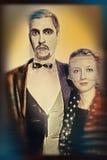 Agentes del teatro en estilo retro foto de archivo