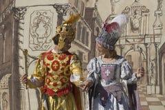 Agentes del teatro medieval fotografía de archivo