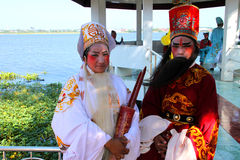 Agentes en estilo chino del traje de la ópera Imagen de archivo libre de regalías