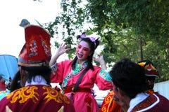 Agentes en estilo chino del traje de la ópera Fotos de archivo
