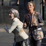 Agentes muy sucios en la calle Fotos de archivo