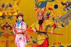 Agentes no identificados de la compañía de la ópera de Pekín fotos de archivo