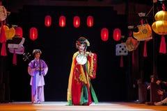 Agentes tradicionales chinos de la ópera imagenes de archivo
