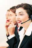 Agenti della call center Fotografie Stock