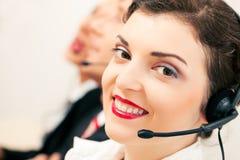 Agenti della call center Immagini Stock Libere da Diritti