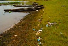 Agenti inquinanti in acque reflue Immagini Stock