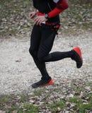 Agentlooppas tijdens het ras met sportkleding Royalty-vrije Stock Foto's