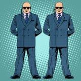 Agents de service secret de protection de cordon de gardes du corps illustration libre de droits