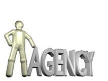 Agentur 3d stock abbildung