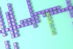 Agentur, vermarktendes Schlüsselwortkreuzworträtsel F?r Webseite, Grafikdesign, Beschaffenheit oder Hintergrund Wiedergabe 3d vektor abbildung