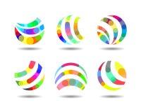 Agenzia creativa variopinta astratta Logo Design Immagine Stock