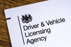 Agenzia di autorizzazione del veicolo e dell'autista Fotografie Stock