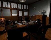 Agenzia di detective americana anziana Immagini Stock Libere da Diritti