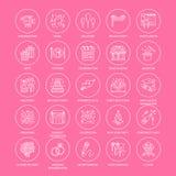 agenzia di evento 25-ICONS-template Immagine Stock