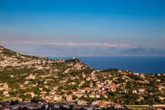 Agerola Na Amalfi wybrzeżu - Campania region, Włochy Obraz Stock