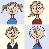 Ages of a Woman Stock Images