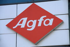 Agfa. Shot of Agfa logo Stock Photography