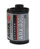Agfa APROXIMA la película 400 para negro y blanco Foto de archivo libre de regalías
