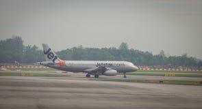 Aggancio dell'aeroplano a Tan Son Nhat Airport Fotografia Stock Libera da Diritti