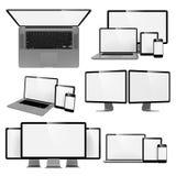Aggeggi moderni isolati su fondo bianco Fotografia Stock