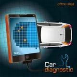 Aggeggio di sistema diagnostico dell'automobile Immagine Stock Libera da Diritti