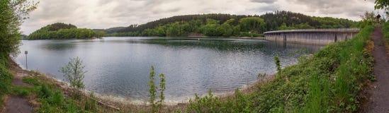 aggertalsperre Germany definici grobelna wysoka panorama Obrazy Royalty Free