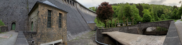 aggertalsperre Germany definici grobelna wysoka panorama Zdjęcia Stock