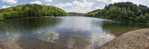 aggertalsperre Germany definici jeziorna wysoka panorama Obrazy Stock