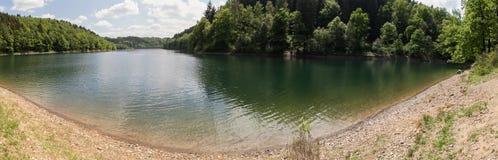 aggertalsperre Germany definici jeziorna wysoka panorama Fotografia Stock