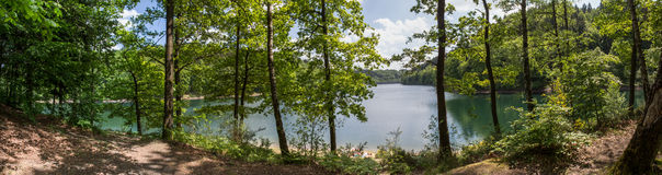 aggertalsperre Germany definici jeziorna wysoka panorama Obrazy Royalty Free