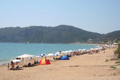 Aggi Georgios, Corfù, Grecia. immagine stock libera da diritti
