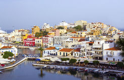 Aggi Nikolaos, Crete Fotografie Stock Libere da Diritti