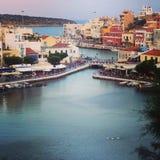 Aggi Nikolaos, Crete Fotografia Stock