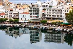 Aggi Nikolaos, Crete Immagini Stock Libere da Diritti