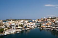 Aggi Nikolaos, Crete, Grecia Immagini Stock Libere da Diritti