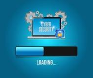aggiornamento cyber di tecnologie informatiche di sicurezza Fotografia Stock Libera da Diritti