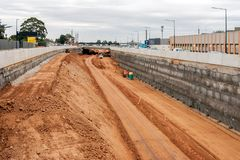 Aggiornamento del sud dell'autostrada della strada a Adelaide, Australia Meridionale immagine stock