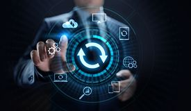 Aggiorni l'applicazione ed il concetto della tecnologia di aggiornamento dell'hardware immagini stock libere da diritti