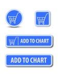 Aggiunga al bottone di web del grafico Immagine Stock