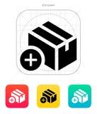 Aggiunga l'icona della scatola. Fotografia Stock Libera da Diritti