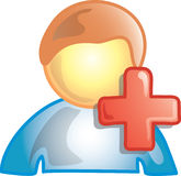 Aggiunga un'icona della persona illustrazione di stock